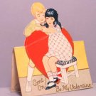 Vintage Valentine Card COME ON! American Colortype Co