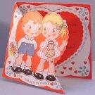 Vintage Valentine STAND-UP 1930s/1940s BOY Girl w/Doll
