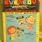 Vintage 1950s EVEREDY MAGNETIC BOARD Write on/Wipe off