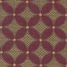 TIETEX Upholstery Fabric Upholstery Fabric CHANTAL Mahogany Abstract Daisy BLEND - small