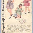 Vintage Pattern SIMPLICITY 4891 Dress 1943 TODDLER Size 2