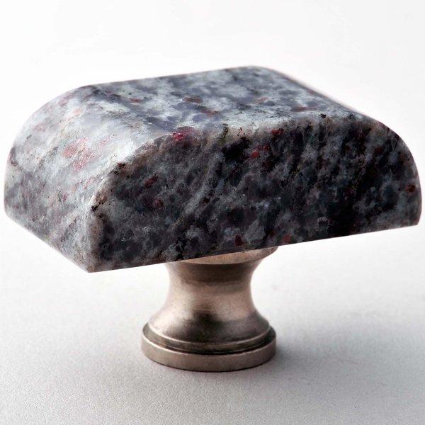 Indian Blue Block Granite Knob