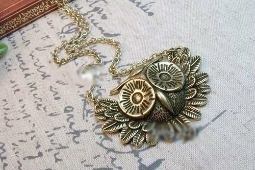 Vintage Inspired Owl Necklace