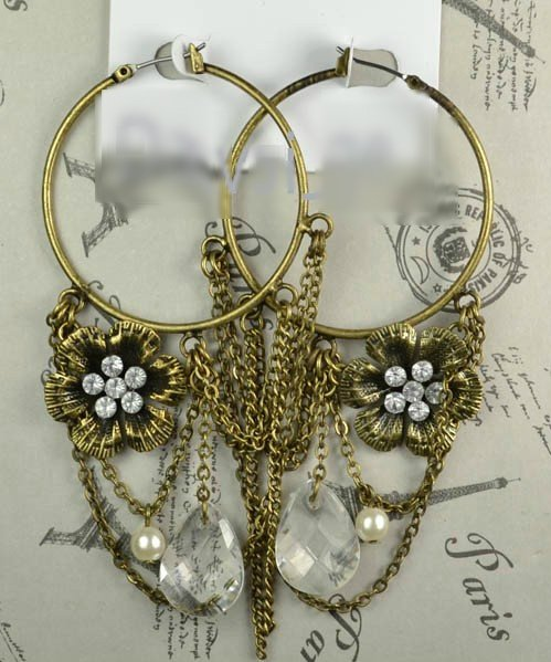 Vintage Inspired Hoop Earrings