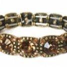 Vintage Art Deco Austrian Crystal Bracelet-Topaz Women's jewelry