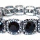 Vintage Fashion Jewelry Austrian Crystal Bracelet - Jet Women's jewelry