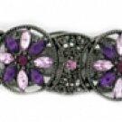 Vintage Filigree Bracelet | Amethyst Austrian Crystal Women's jewelry
