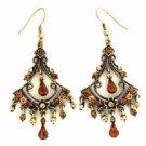 Vintage Chandelier Earrings - Topaz Austrian Crystal Women's Jewelry