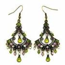 Chandelier Earrings - Olivine Austrian Crystal Women's Jewelry