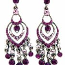 Chandelier Earrings - Amethyst Austrian Crystal Victorian Jewelry Women's Jewelry