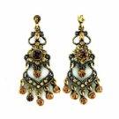 Chandelier Earrings - Topaz Austrian Crystal Victorian Fashion Women's Jewelry