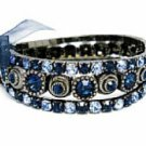 Montana Blue Austrian Crystal Stacked Bracelets Women's jewelry