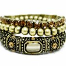 Vintage Stacked Bracelets - Lt. Colorado Topaz Austrian Crystal Women's jewelry