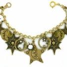 Moons/Stars/Crystals Celestial Charm Bracelet Women's jewelry