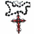Cross Necklace-Ruby Austrian Crystal Women's Men's Jewelry