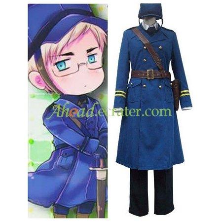 Axis Powers Sweden Berwald Oxenstierna Cosplay Costume