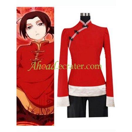 Hetalia Axis Powers China Cosplay Costume 2