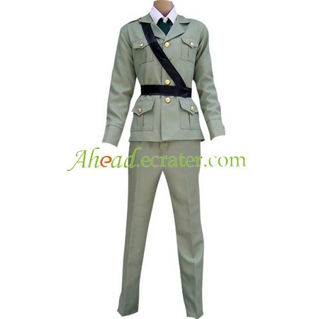 Hetalia Axis Powers Gray England Cosplay Costume