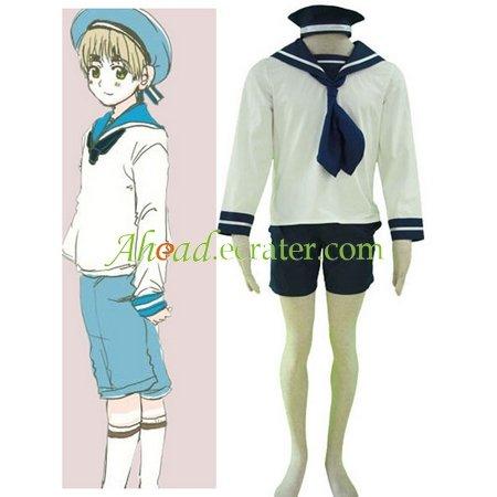 Hetalia Axis Powers N. Italy Sailor Suit Cosplay Costume
