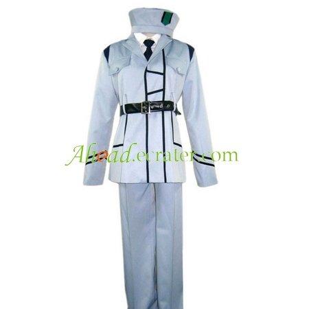Hetalia Axis Powers White Uniform Cosplay Costume