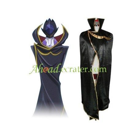 Code Geass Lelouch of the Rebellion Zero Black Knights Cosplay Cloak