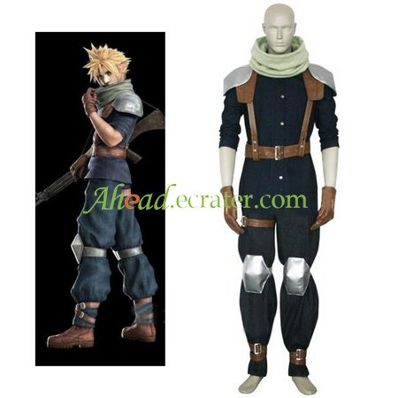 Final Fantasy VII Crisis Core Cloud Strife Halloween Cosplay Costume