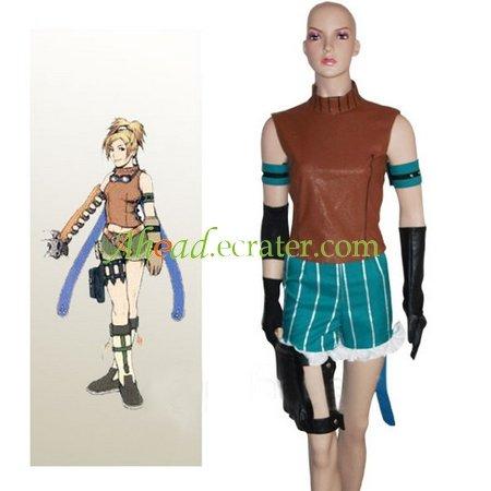 Final Fantasy X Rikku Halloween Cosplay Costume