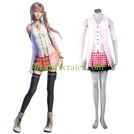 Absolutely 11 Replica Final Fantasy XIII 13 serah Cosplay Costume