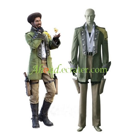 Final Fantasy XIII Sazh Katzroy Halloween Cosplay Costume