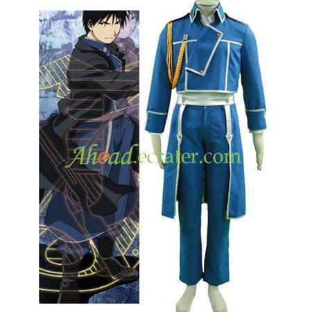 Fullmetal Alchemist Mustang Uniform Cosplay Costume