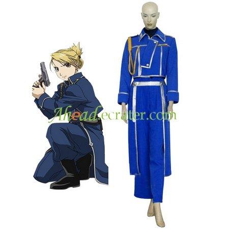 FullMetal Alchemist Riza Hawkeye Military Halloween Cosplay Costume