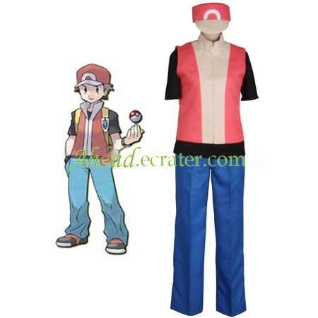 Pokemon Ash Ketchum Cosplay Costume