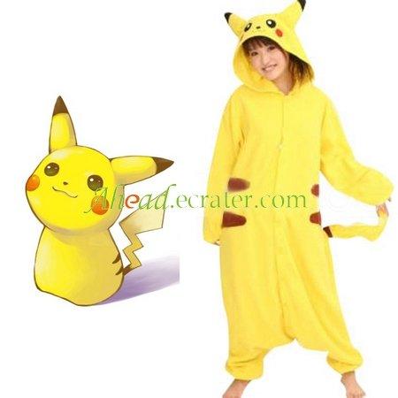 Pokemon Pikachu Cosplay Kigurumi Unmasking Costume