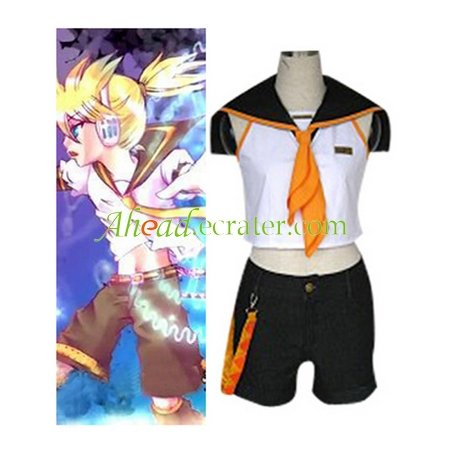 Vocaloid Kagamine Rin Cosplay Costume11