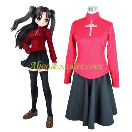 Fate Stay Night Rin Tosaka Cosplay Costume