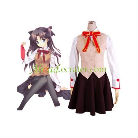 Fatestay night Homurabara Gakuen Girl's Uniform Cosplay Costume