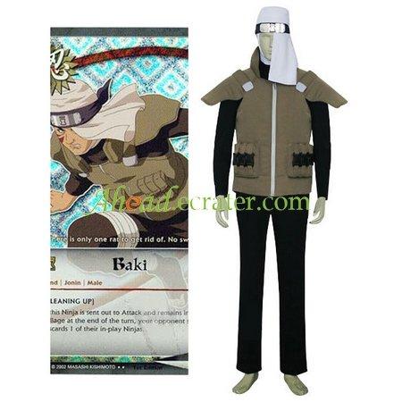 Naruto Baki Cosplay Costume