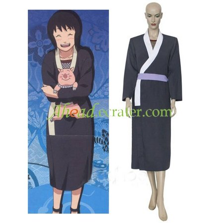 Naruto Black And White Shizune Cosplay Costume