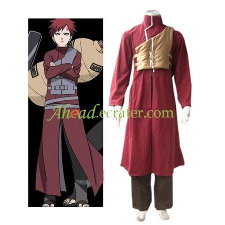 Naruto Shippuden Gaara Red Halloween Cosplay Costume