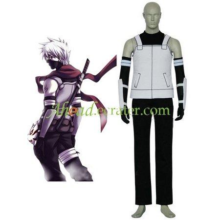 Black And White Naruto Anbu Halloween Cosplay Costume
