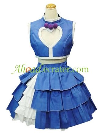 The King of Fighters Athena Asamiya Blue And White Cosplay Costume