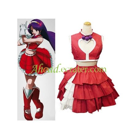 The King of Fighters Athena Asamiya Red And White Cosplay Costume