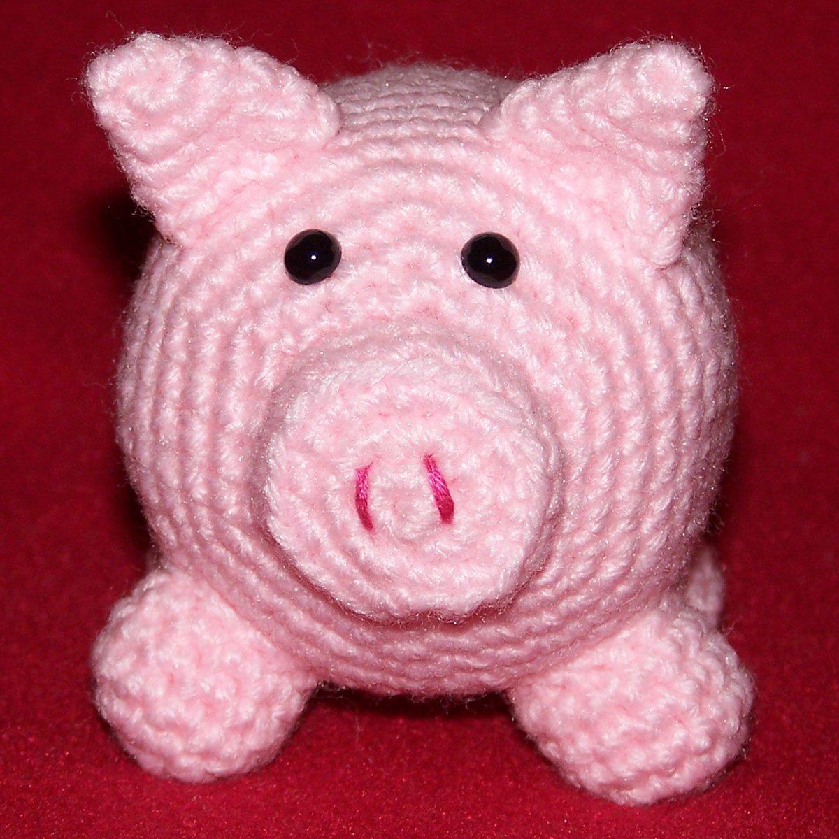 amigurumi PIG - pink - cute crochet stuffed toy animal