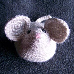 amigurumi MOUSE RAT - gray - cute crochet stuffed toy animal
