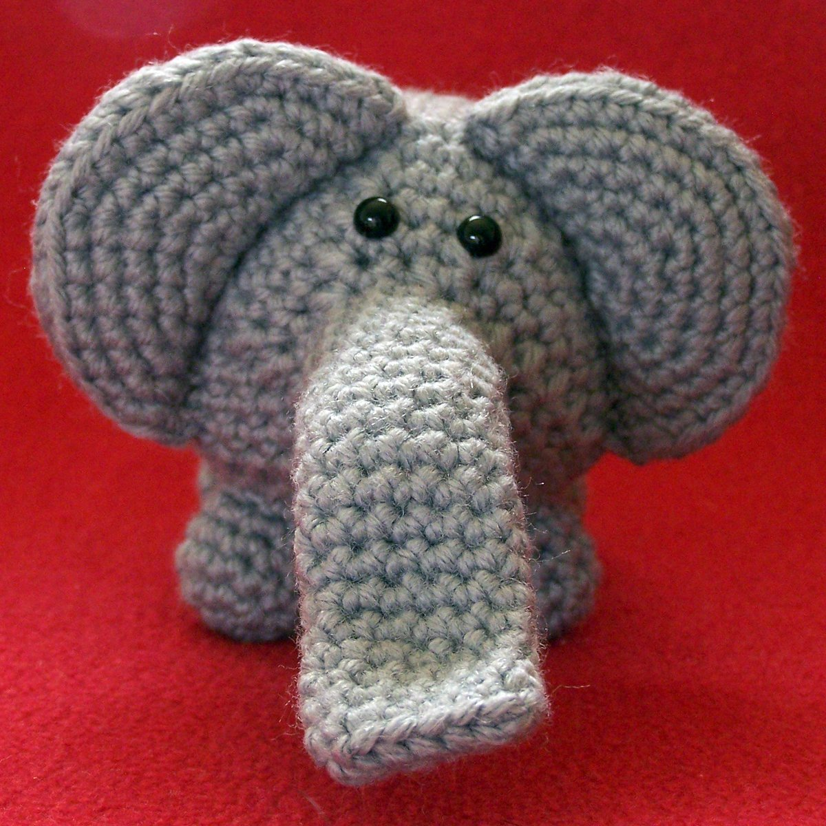 amigurumi ELEPHANT - gray - cute crochet stuffed toy animal