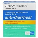 Simply Right Anti-Diarrheal Caplets - 2mg - 350 ct