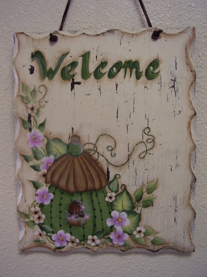 Birdhouse Welcome Door Hanger