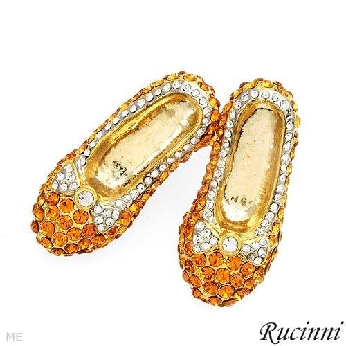 RUCINNI Brooch/Pin Swarovski Crystals High Heels Pumps Pin