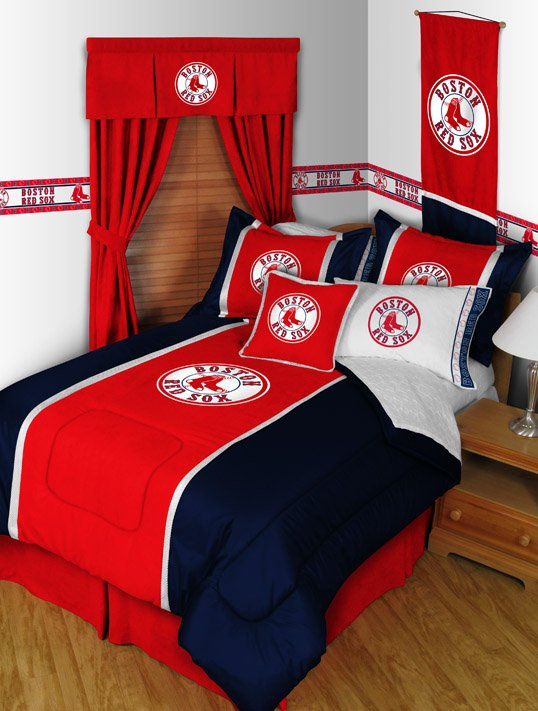 Boston Red Sox Comforter and Sheet Set - Twin