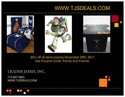 20% off Gift Card Coupon Certificate TJSDeals.com